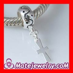 sterling silver cross dangle charm