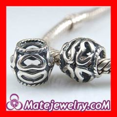 Sterling silver Heart Hollow charms