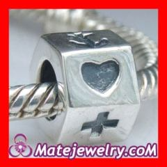 sterling silver heart cross anchor charms
