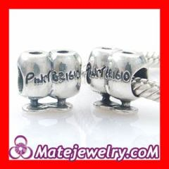 sterling silver Wine glasses pinot grigio bead charms