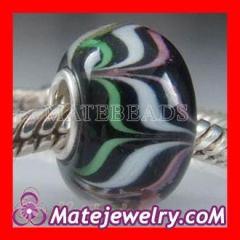 Swirl Murano glass bead charms