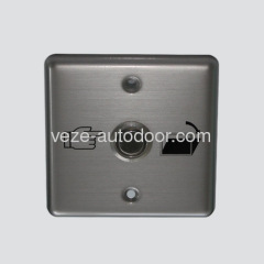 Automatic door exit button