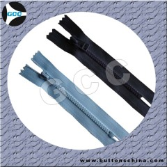 #3 and #5 vislon plastic zipper close end and open end