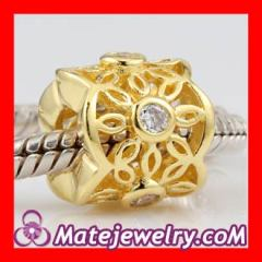 Sterling Silver Golden radiance beads