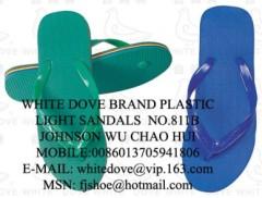 cheapest pvc pe plastic light sandals