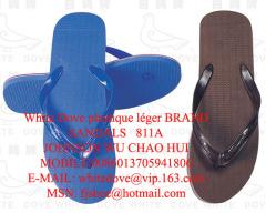 PVC/PE Home slipper whitedove 811a