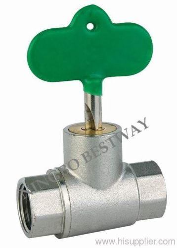 Brass ball valve with lock