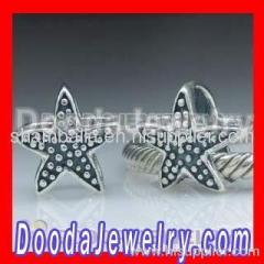 european sterling silver starfish bead