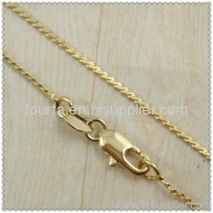 18k gold plated necklace 1420133