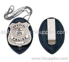 Leather Badge Holder Belt Clip/ Badge Holders/ Name Badge Holder