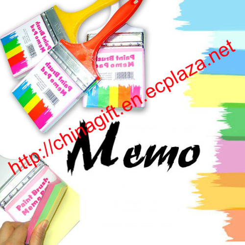 Paint Brush Style Memo Pad
