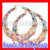 wholesale Celeb Gold Multi Color Bamboo Chain Earrings Cheap