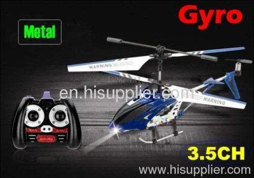 wholesale promotion 3.5 channel metal rc helicopter +gyro rc toy toy children toys