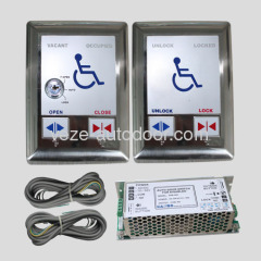 Automatic door push button switches for disabled