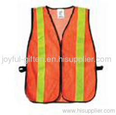 Yellow and orange safety vest