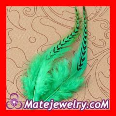 striped rooster feather hair extensions