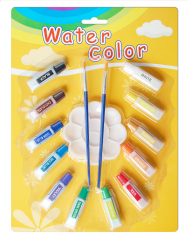12 colors Liquid watercolor paints with palette