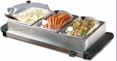 Electric stainless steel warming trays