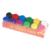 12 colors 20ml tempera paints with 2 brush
