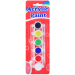 6 colors acrylic paints with a brush