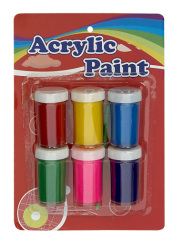 6 c 30ml acrylic paint