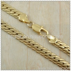 18k gold plated necklace 1430086