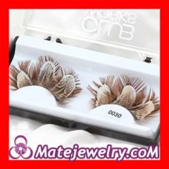 Fashion feather eyelashes wholesale