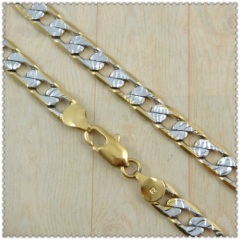 18k gold plated necklace 2410004