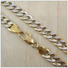 18k gold plated necklace 2410010