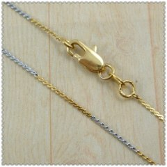 18k gold plated necklace 2420005