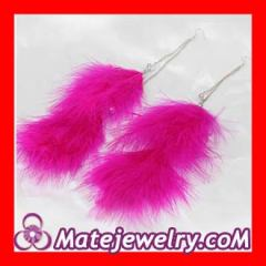 fluffy feather earrings Wholesale
