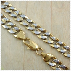 18k gold plated necklace 2430003