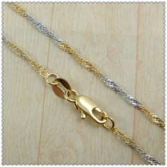 18k gold plated necklace 2440011