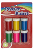 6 colors 30ml poster paints with a brush