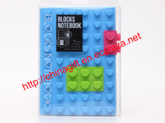 Valentine's Day Heart Lego Notebook