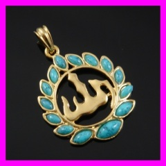 18k gold plated pendant 1620836