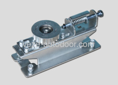 Automatic door tension pulley
