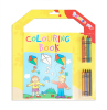 Coloring book with crayons