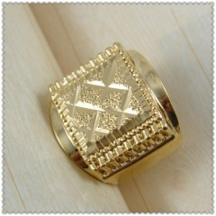 18k gold plated ring 1310068