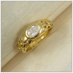18k gold plated ring 1320165