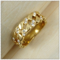 18k gold plated ring 1320186