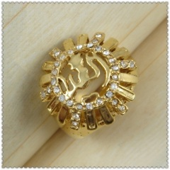 18k gold plated ring 1320226