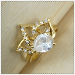 18k gold plated ring 1320644