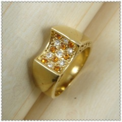 18k gold plated ring 1320645
