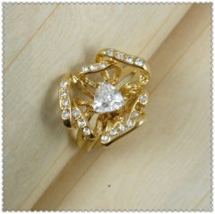 18k gold plated ring 1320697