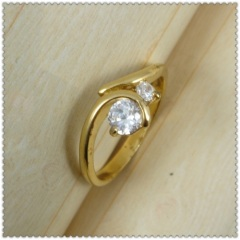 18k gold plated ring 1320724