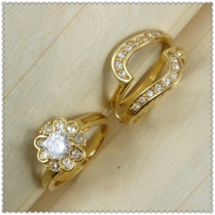 18k gold plated ring 1320763
