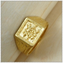 18k gold plated ring 3310004