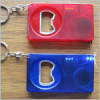 Bottle opener with 1 meter steel tape measure and LED light