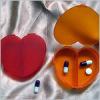 Heart shape 2 case plastic pill box